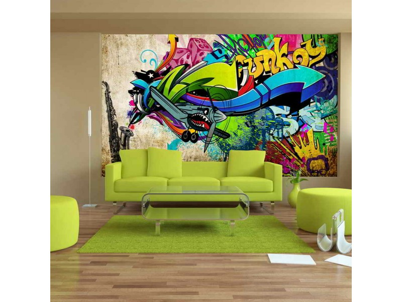 FOTOTAPET FUNKY-GRAFFITI