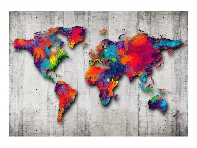 Fototapeter med decorativa världskartor som motiv - köp online