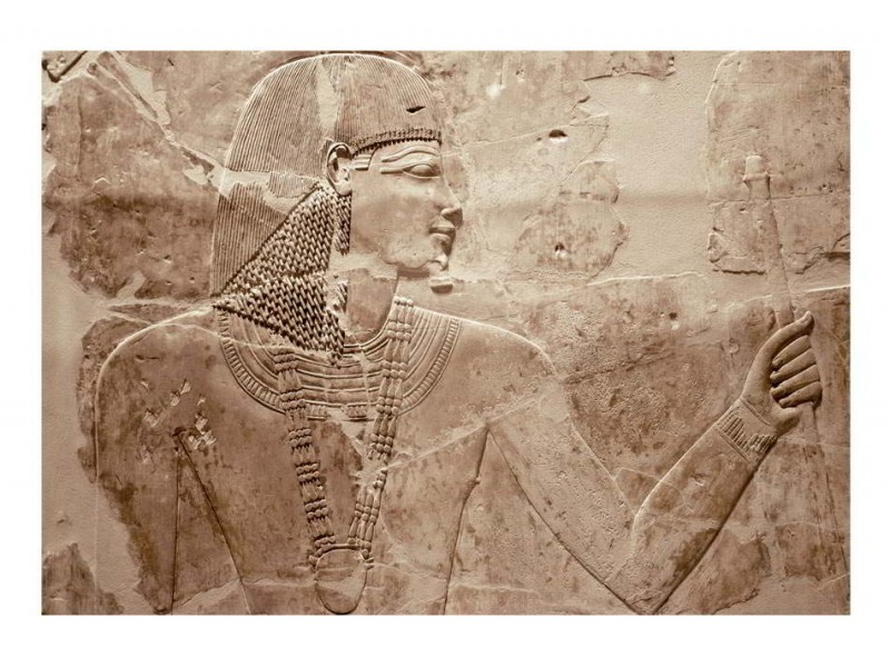 FOTOTAPET EGYPTISKPHARAOH- PRÄGELBILD PÅ VÄGGEN