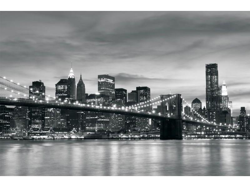 011V8 - Fototapet svartvit New York