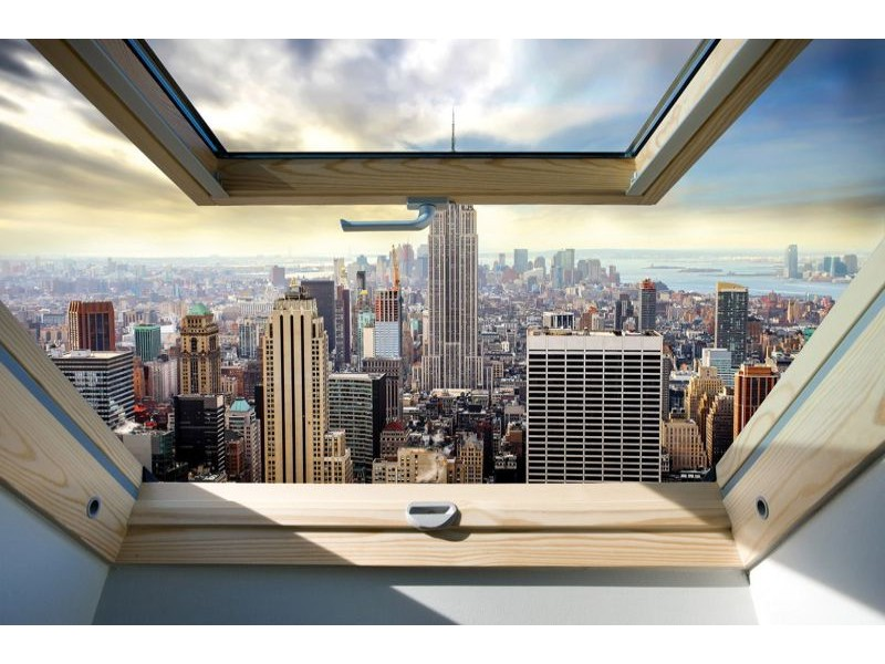 10415V8 - Fototapet New York Panorama Fönstervy