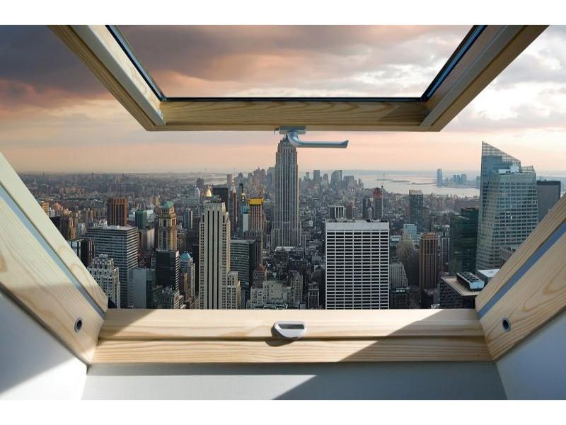 10416V8 - Fototapet New York Panorama Fönstervy