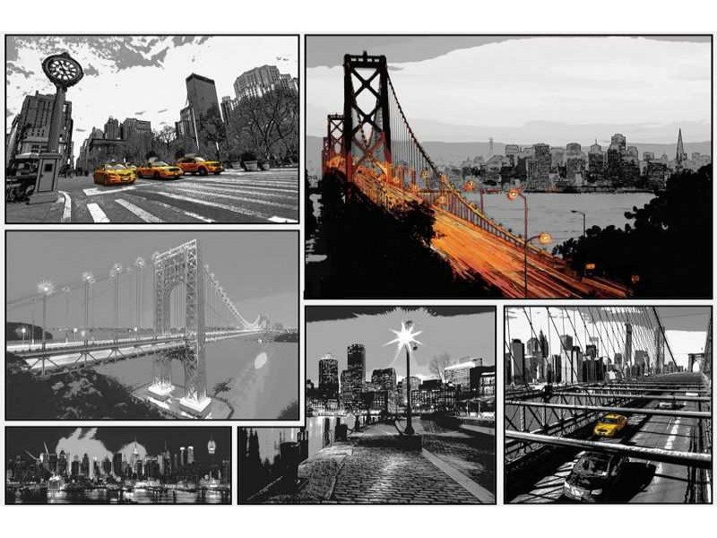 10675V8 - Fototapet Comics Cities