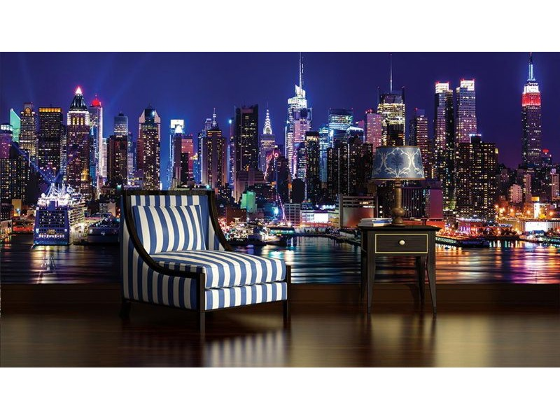 1310V8 - Fototapet New York på natten
