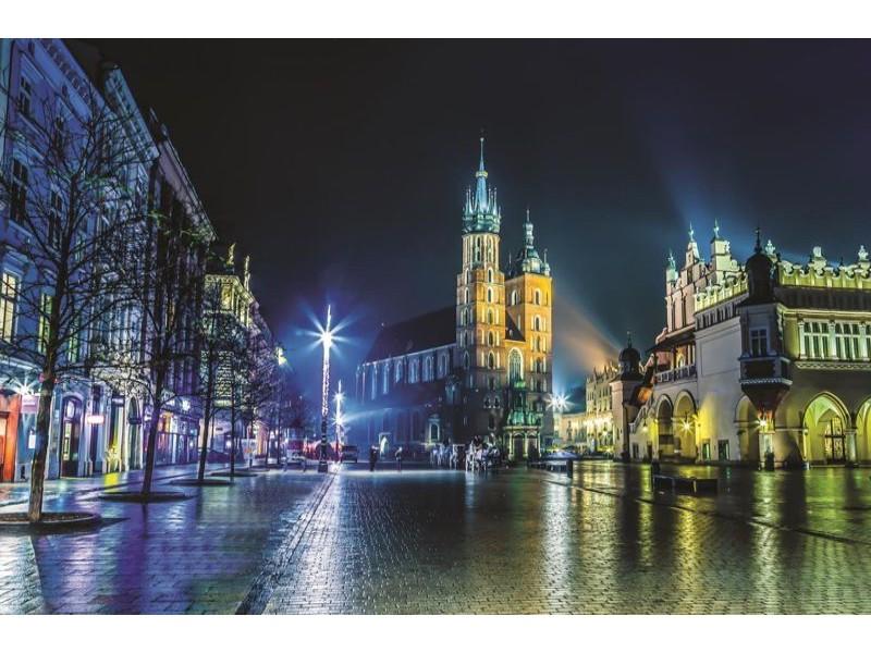 1314V8 - Fototapet City Skyline Krakow