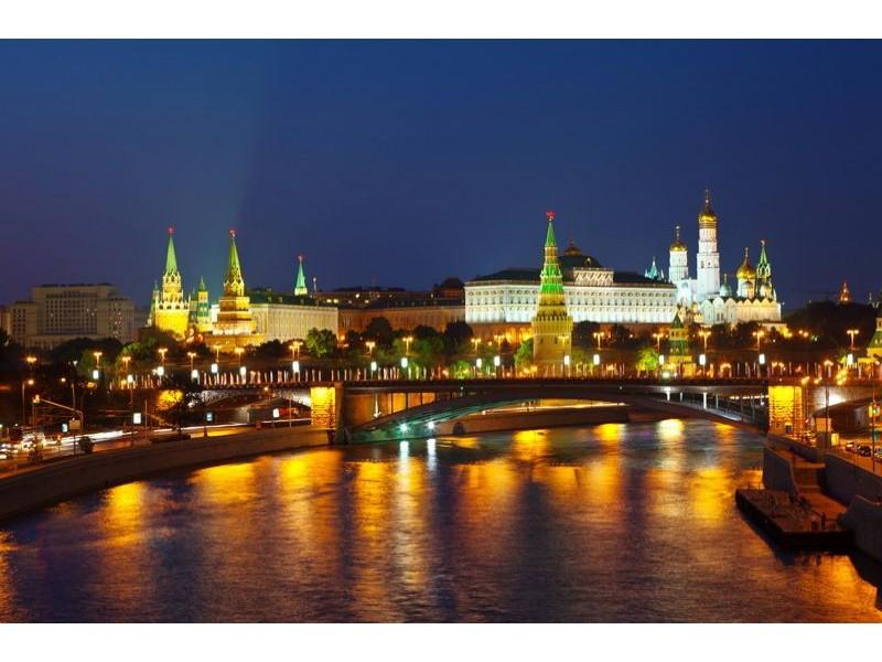 167V8 - Fototapet Moskva Kreml på natten