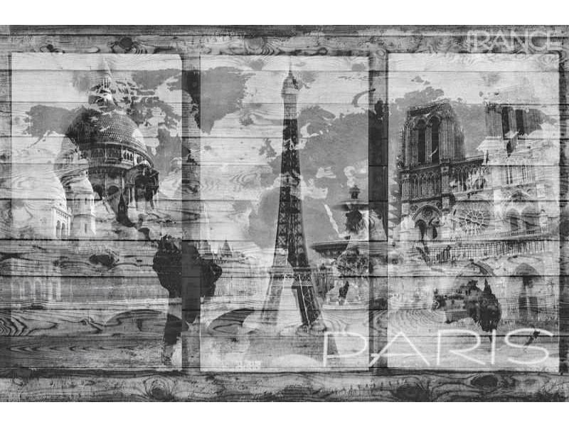 1990V8 - Fototapet Paris över världen