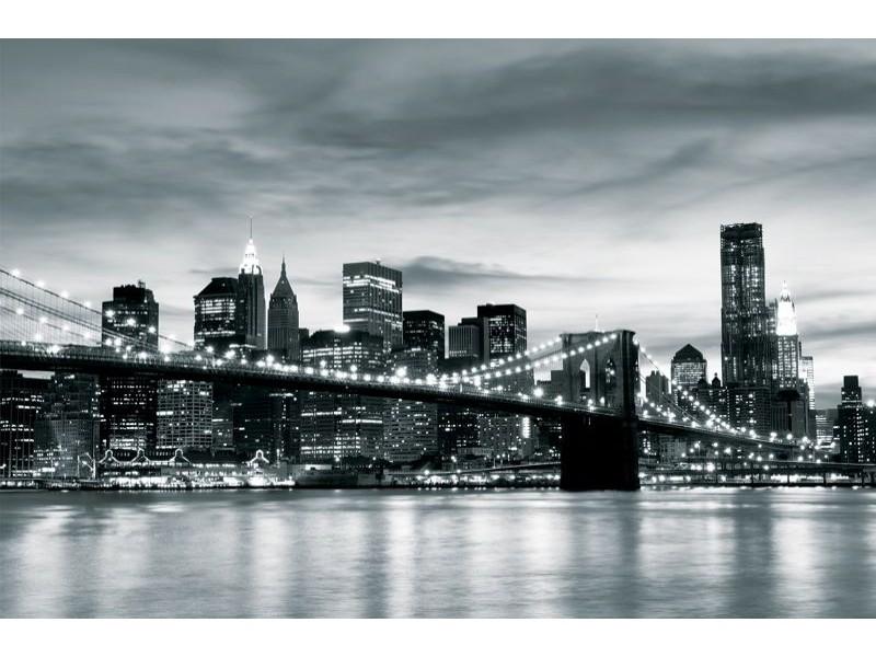 226V8 - Fototapet New York City och Brooklyn Bron