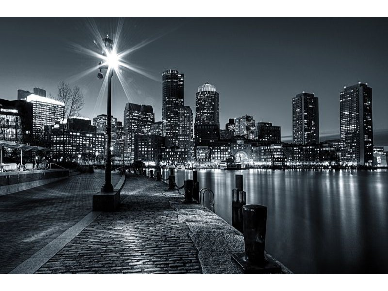 275V8 - Fototapet New York på natten