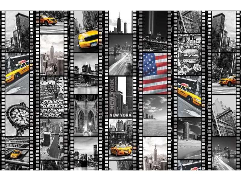 3376V8 - Fototapet Tape av New York