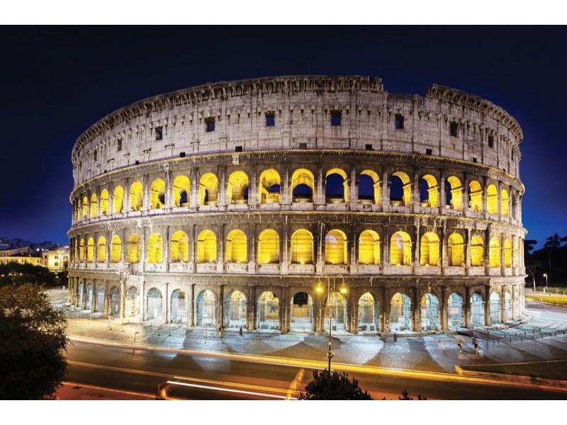 3396V8 - Fototapet Rom Kolloseum på natten