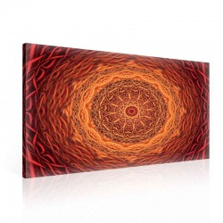 Mandala Art Red Orange Canvastavla (PP2417O1)
