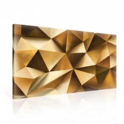 Pattern Abstract Gold Canvastavla (PP2508O1)