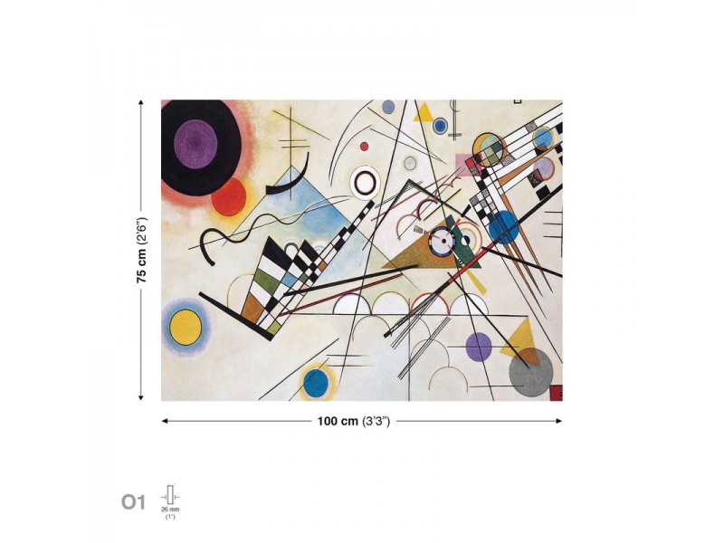 Composition VIII Kandinsky Shapes Art Canvastavla (PP109O1)