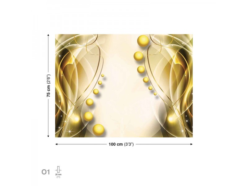Spheres Gold Canvastavla (PP2332O1)