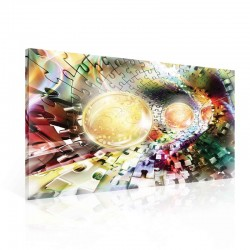 Puzzle Jigsaw Spheres Colors Canvastavla (PP2432O1)