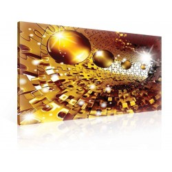 Puzzle Jigsaw Spheres Gold Canvastavla (PP2330O1)
