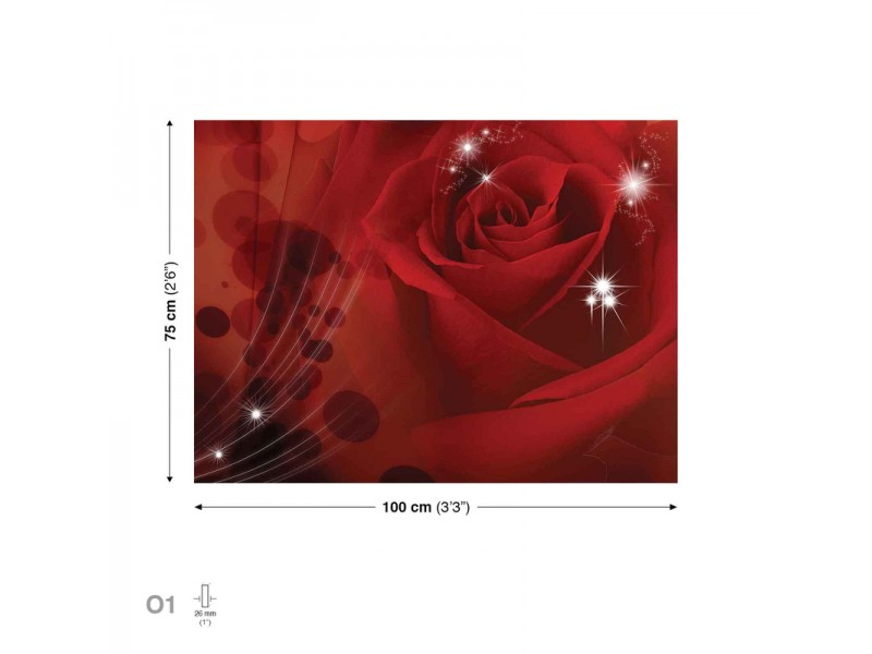 Canvastavla Flower Rose Blossom (PP126O1)
