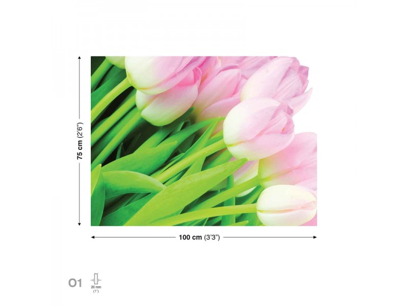 Canvastavla Flowers Tulips Bouquet (PP149O1)