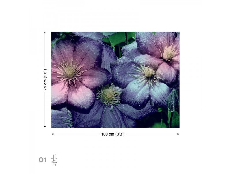 Canvastavla Flowers Purple (PP2299O1)