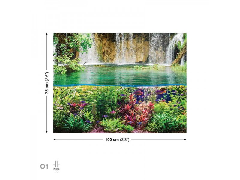 Canvastavla Waterfall Sea Jungle Nature (PP2326O1)