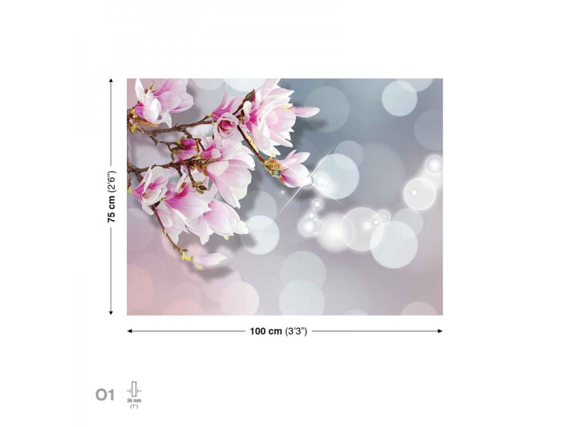 Canvastavla Flowers Blossom Pink (PP2364O1)