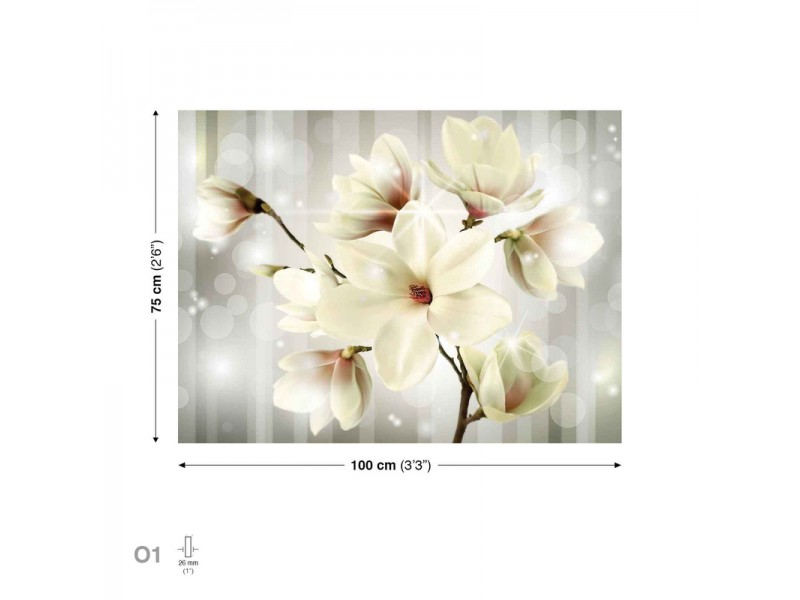 Canvastavla Flowers White (PP2511O1)