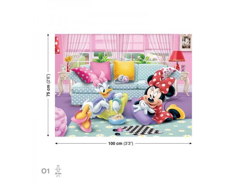 Canvastavla Disney Minnie Mouse Daisy Duck (PPD1445O1)