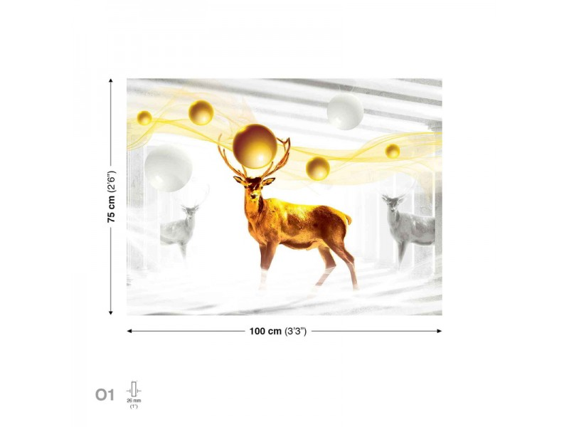 Deer Gold Canvastavla (PP2300O1)
