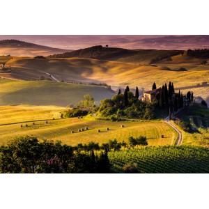 169V8 - Fototapet toskanska landskapet
