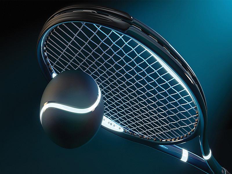 1617V8 - Fototapet tennisracket