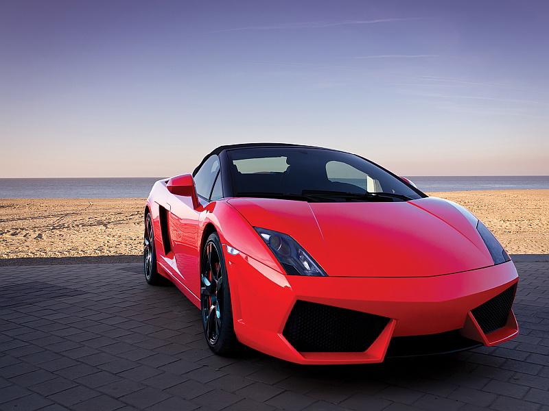 3395V8 - Fototapet röda sportbilen