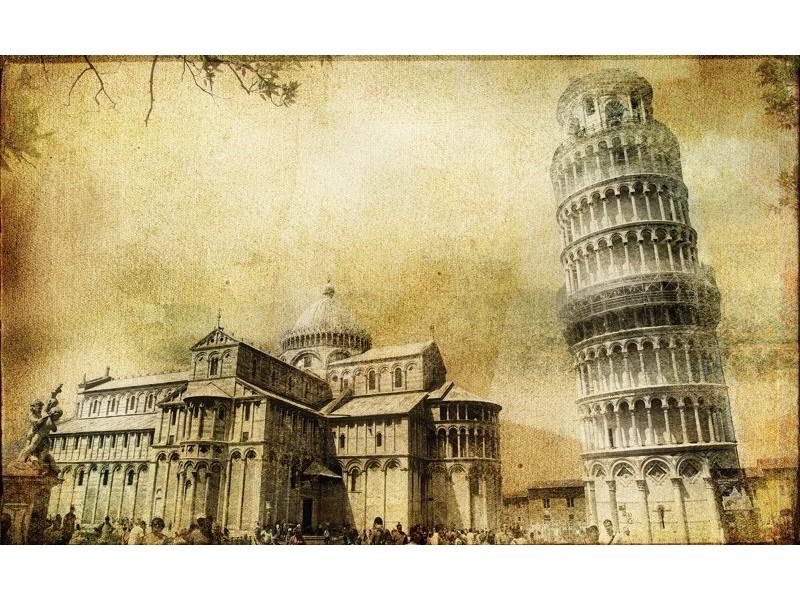 195V8 - Fototapet  lutande tornet i Pisa