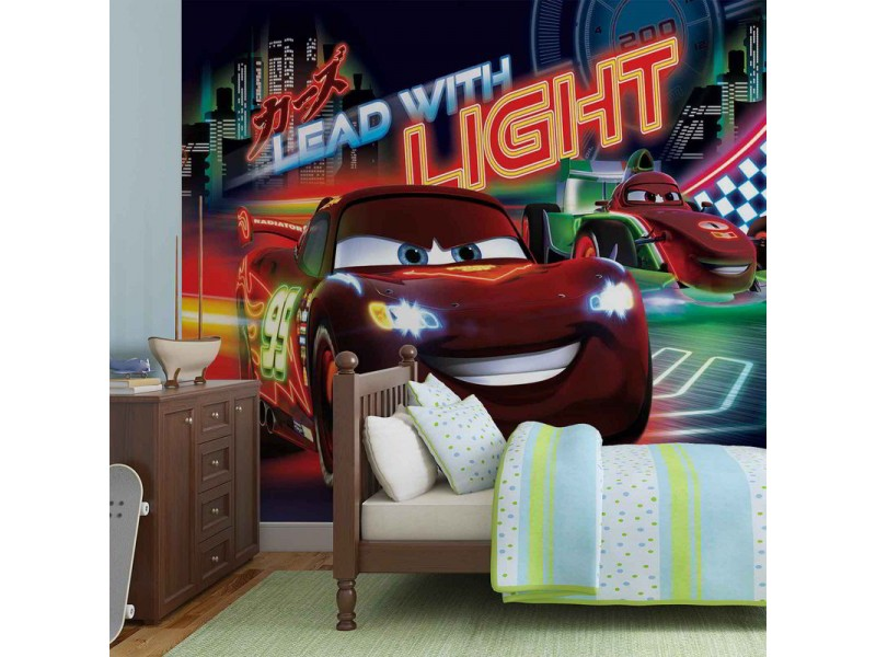 749WM - Fototapet DISNEY CARS LIGHTNING MCQUEEN BERNOULLI