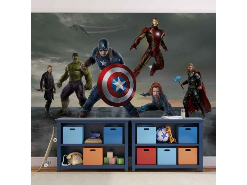 3362WM - Fototapet MARVEL AVENGERS FORMATION