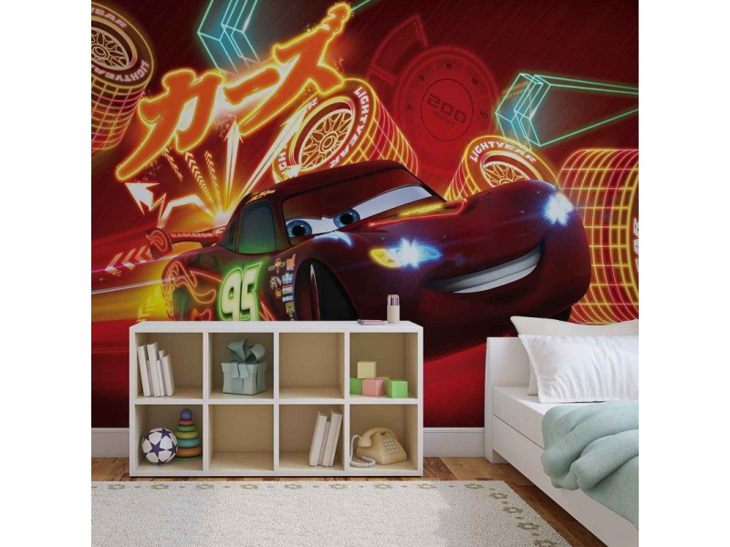 746WM - Fototapet DISNEY CARS LIGHTNING MCQUEEN