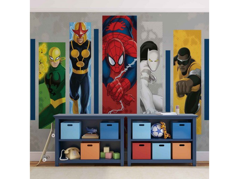 268WM - Fototapet MARVEL COMICS TEAM HEROES