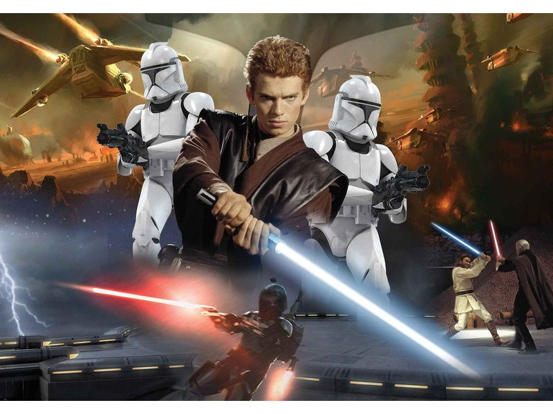 1691WM - Fototapet STAR WARS ATTACK CLONES ANAKIN SKYWALKER