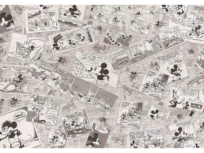 2885WM - Fototapet DISNEY MICKEY MOUSE NEWSPRINT VINTAGE