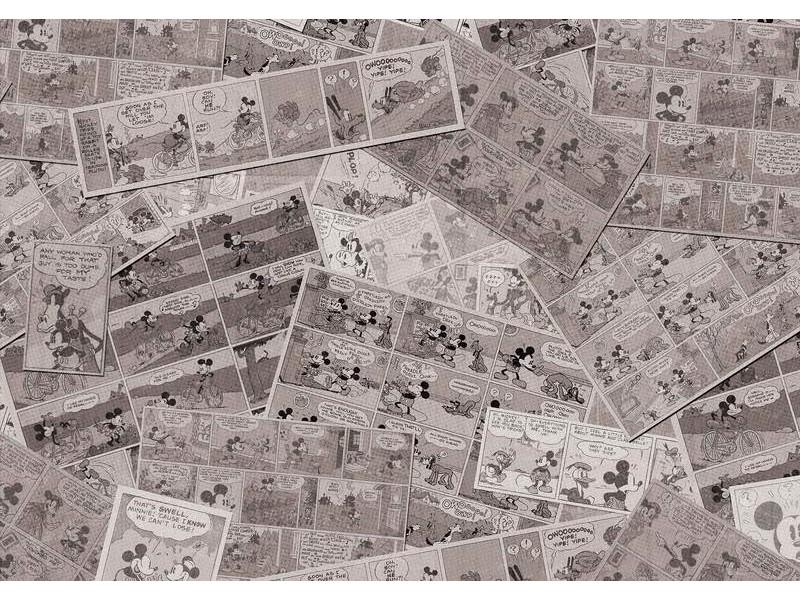 2886WM - Fototapet DISNEY MICKEY MOUSE NEWSPRINT VINTAGE