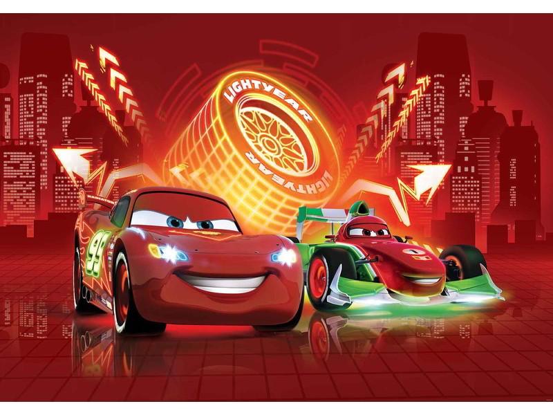 752WM - Fototapet DISNEY CARS LIGHTNING MCQUEEN BERNOULLI