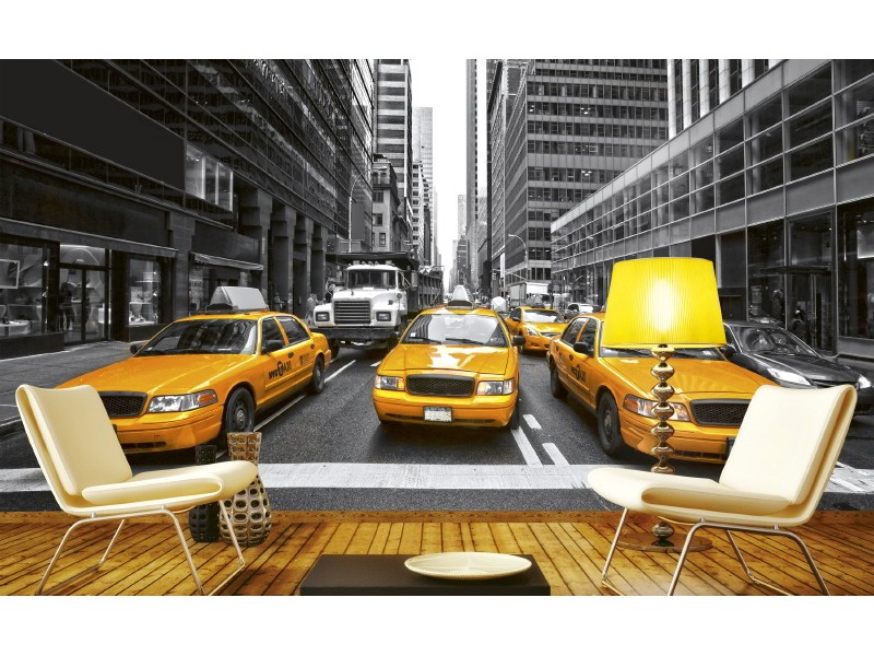 FOTOTAPET EASY UP YELLOW TAXI