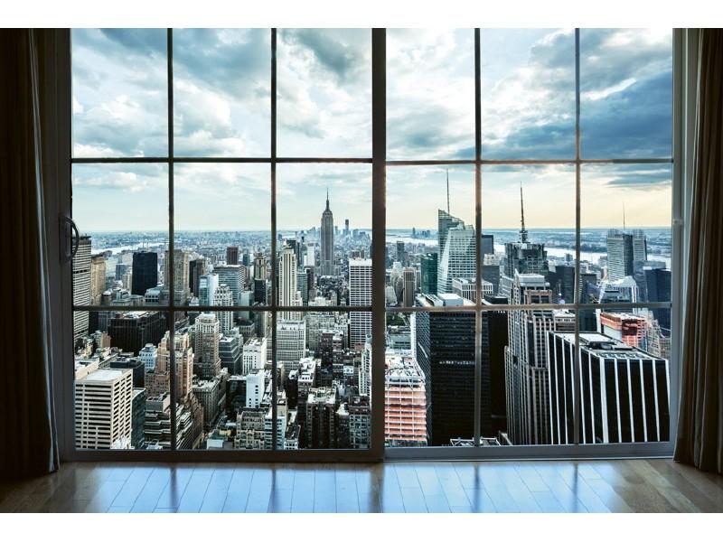 FOTOTAPET EASY UP MANHATTAN WINDOW VIEW