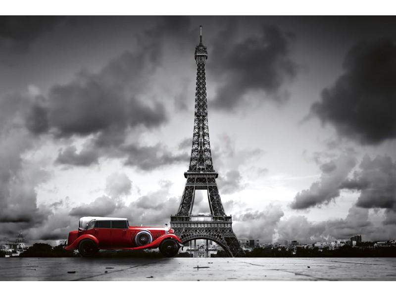 FOTOTAPET EASY UP RETRO CAR IN PARIS