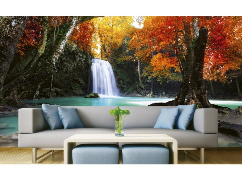 FOTOTAPET EASY UP DEEP FOREST WATERFALL
