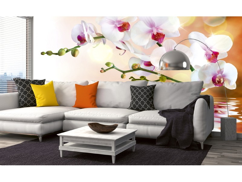 FOTOTAPET EASY UP WHITE ORCHID