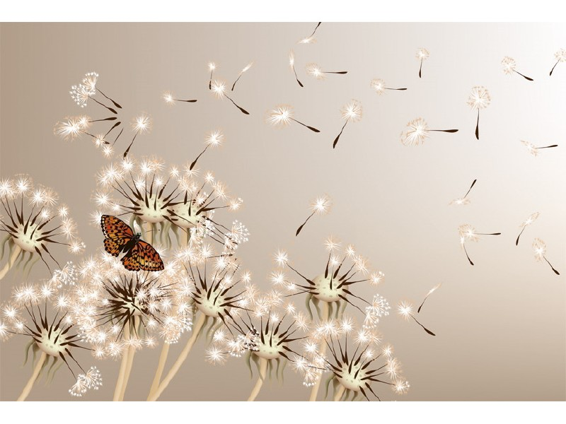 FOTOTAPET EASY UP DANDELIONS AND BUTTERFLY