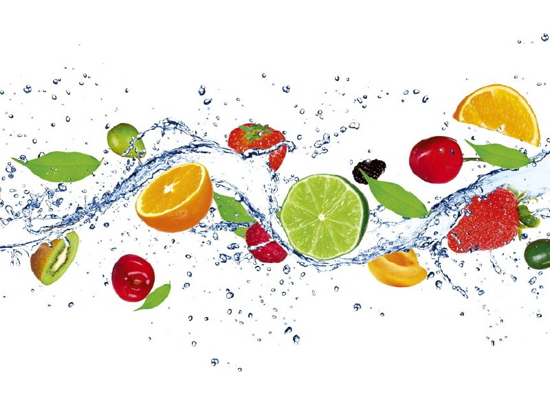 FOTOTAPET EASY UP FRUITS IN WATER