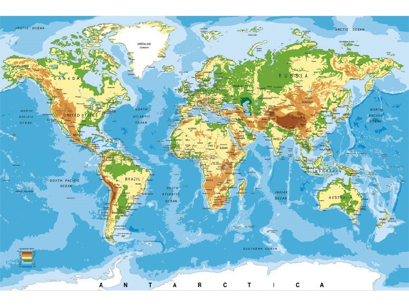 FOTOTAPET EASY UP WORLD MAP