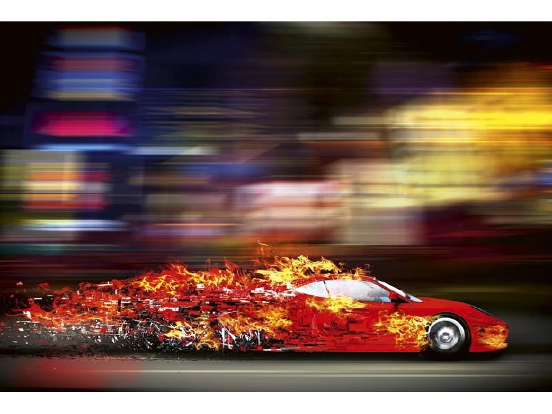 FOTOTAPET EASY UP SPEEDING CAR